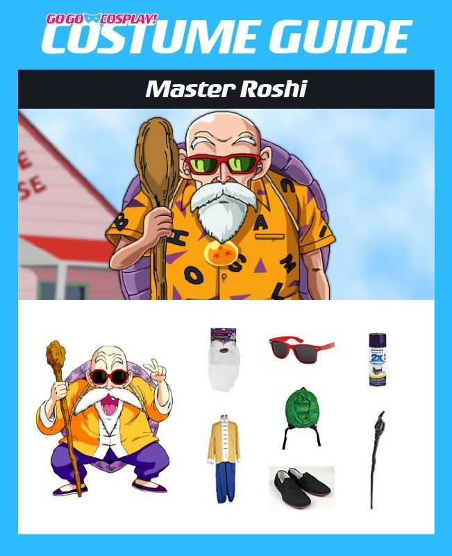 Master Roshi Costume Guide Diy Cosplay Halloween Ideas Dbz Cosplay Diy Costumes Cosplay