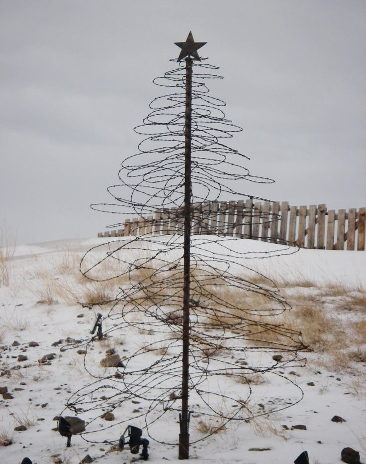 8 ft barbed wire tree