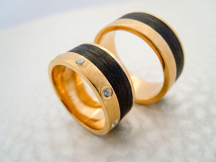 Argollas de matrimonio con fibra de carbono by Yessica Bordón