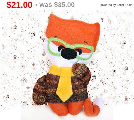 Fox Toy Toddler gift Fox Stuffed animal by Fairybugcreativetoys