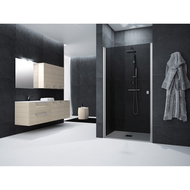 porte de douche pivotante 90 cm fum neo sensea porte de douche porte de douche pivotante