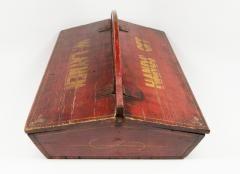 c. 1840. Large Carpenters Tool Box. 23 W 9.5 H 15 D.