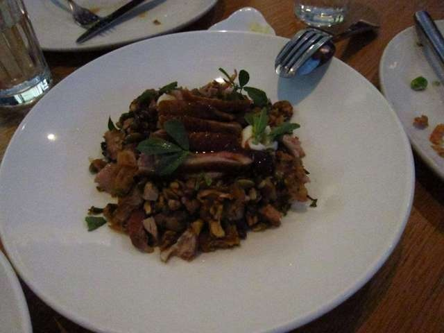 Roast duck breast with toasted grains and plum @ Cumulus