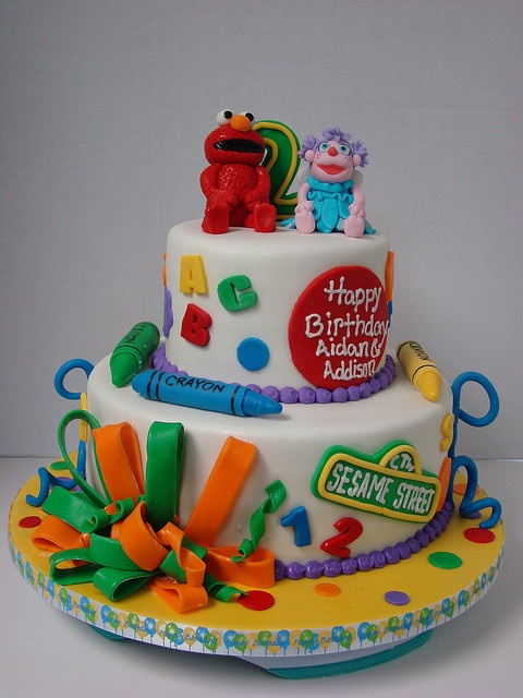 Best Elmo And Abby Party  Images On Pinterest Sesame - Elmo and abby birthday cake