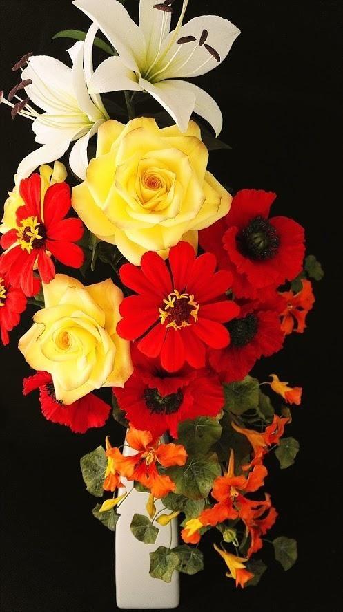 Bouquet+with+Zinnie+-+Cake+by+Zdenek