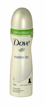 Dove Compressed Anti Perspirant Deodorant 75ml Invisible Dry Use Dove compressed Original Anti-Perspirant just like your normal 150ml Dove aerosol and it will last just as long.Dove compressed leaves underarms visibly soft and smooth and feels gentle on your skin.