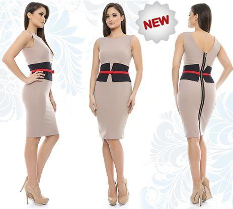 La Adrom Collection a sosit azi acest nou model de rochie cu inserții în contrast în talie, care se poate cumpăra online angro de aici: http://www.adromcollection.ro/rochie-angro-R432