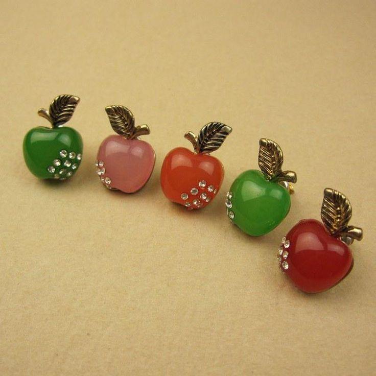Многоцветной Моды Ювелирных Изделий Серьги Ювелирные Изделия Небольшие Дикие Яблоки