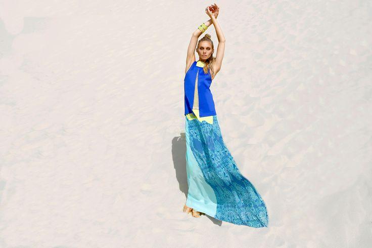 Ixiah Spring 13 - Blue Print Maxi