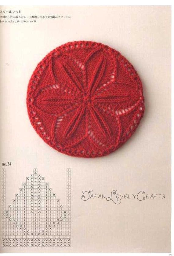 Punto hoja tricot Knitting Lace 104 - Kotomi Hayashi - Japanese Knit Pattern Book - Edging, Haapusalu Patterns - B1180