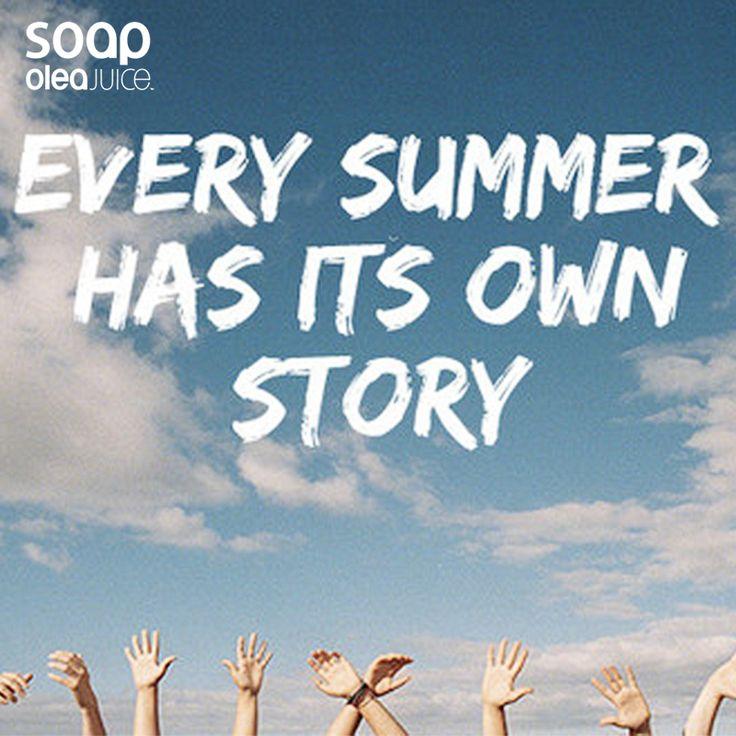 Εσύ, τι ιστορίες έχεις να μοιραστείς μαζί μας από το καλοκαίρι σου;  #summer #stories #oleajuice #soap