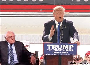 Bernie Sanders scares Trump at Ohio Rally | Gif Finder – Find and Share funny animated gifs
