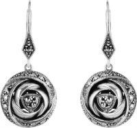 43-221 Rose Drop Earrings