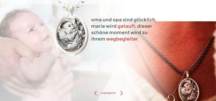 wegbegleiter www.wegbegleiter.com schmuck  taufe geschenk  anlässe anhänger kette sterling silber