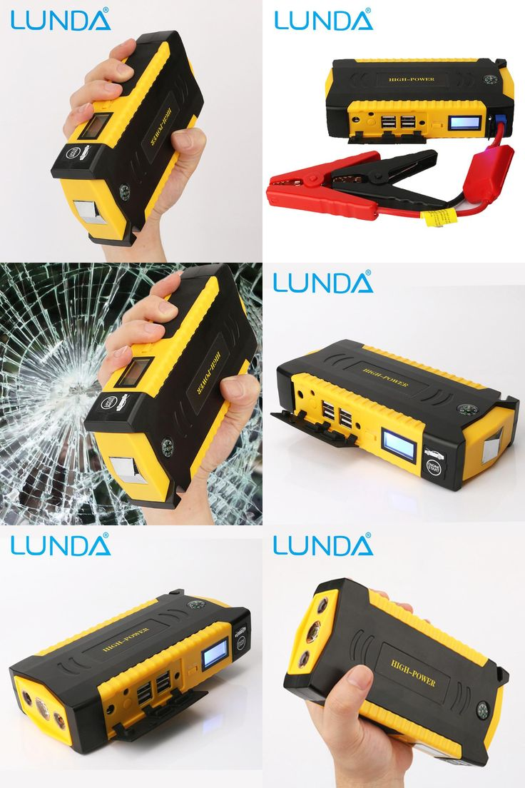 [Visit to Buy] LUNDA  4USB 19B Diesel Car jump starter   for car Motor vehicle booster start jumper battery discharge rate  power bank #Advertisement