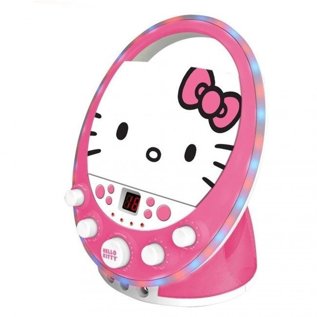 Hello Kitty 66209 Karaoke CDG Player W/Party Disco Lights & Dual Mic Inputs #Sanrio