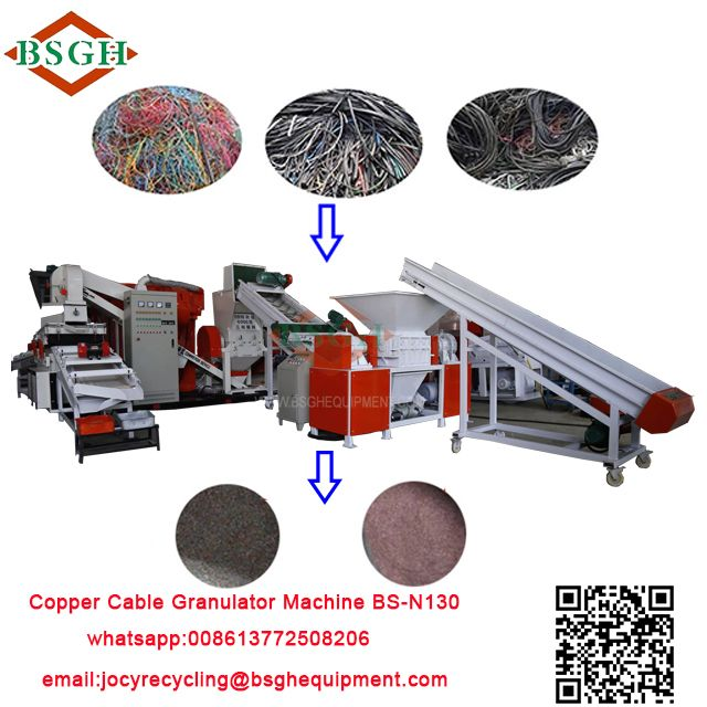 china manufacturer scrap copper cable crusher and separator