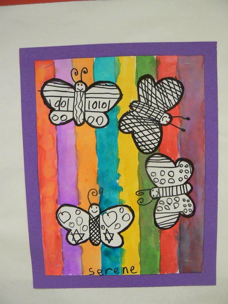 Mrs. T's First Grade Class: Warm and Cool Butterflies
