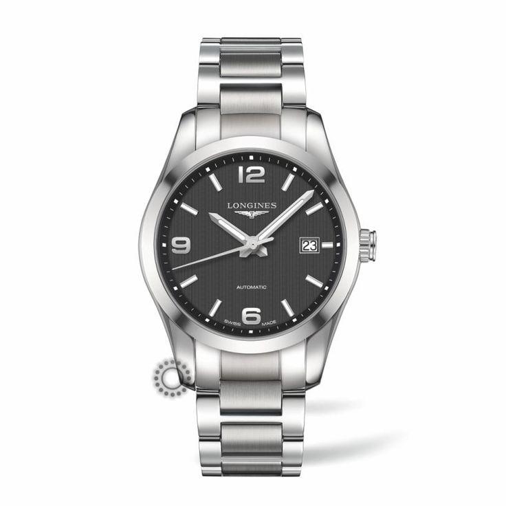 LONGINES Conquest Classic automatic L27854566 Ανδρικό αυτόματο ρολόι LONGINES με μαύρο καντράν & μπρασελέ | Επίσημος συνεργάτης LONGINES στο Χαλάνδρι #conquest #classic #longines #ρολόγια