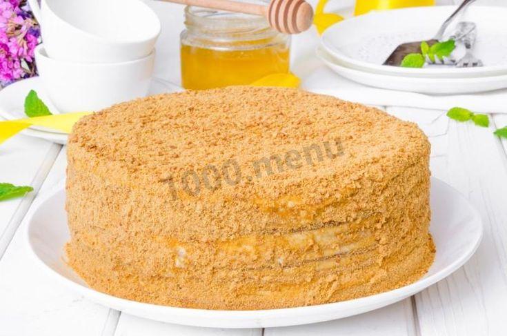 Медовый торт со сметанным кремом классический