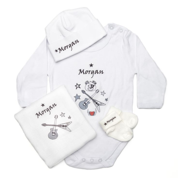 29 best personalized baby gifts images on pinterest personalized personalised baby shower gift set rock themed baby gift hamper personalise this set with negle Images