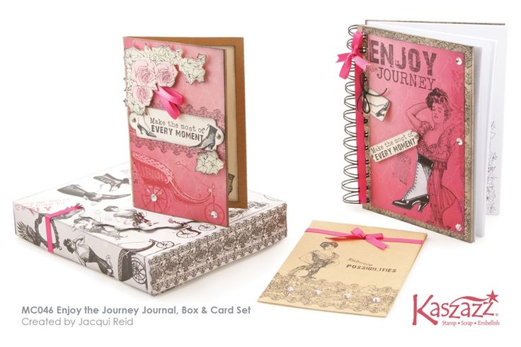 MC046 Enjoy the Journey Journal, Box & Card Set