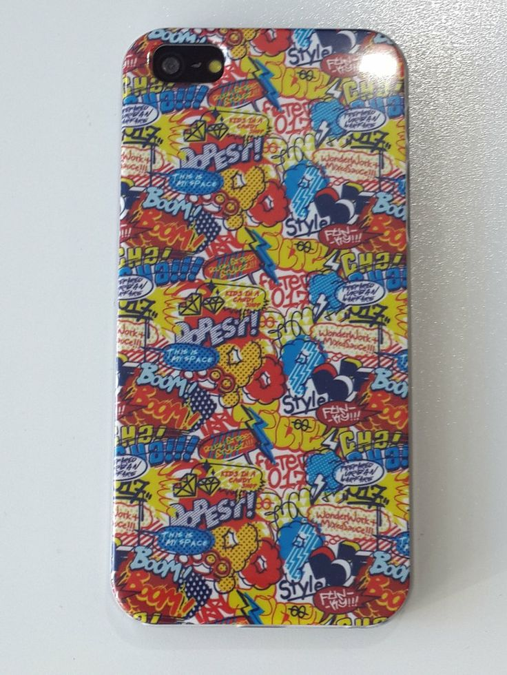 Carcasa dibujo bocadillos comics Iphone 5 / 5S a 4,95€ Envíos incluidos www.mcase.es