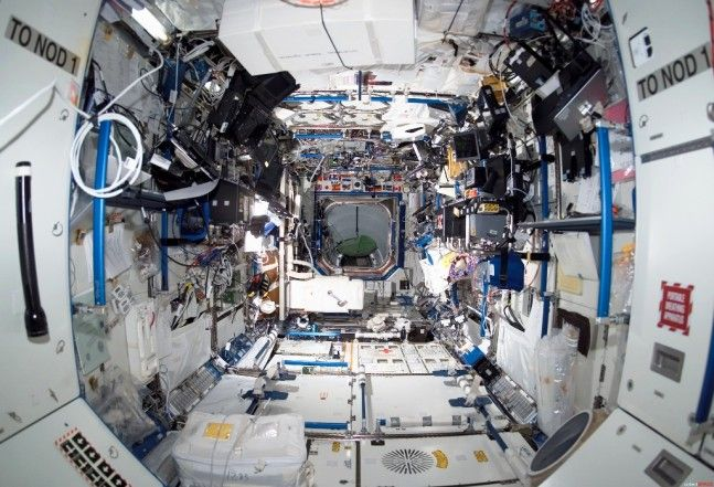 International Space Station ISS interior European Space Agency ESA photo posted on SpaceFlight Insider