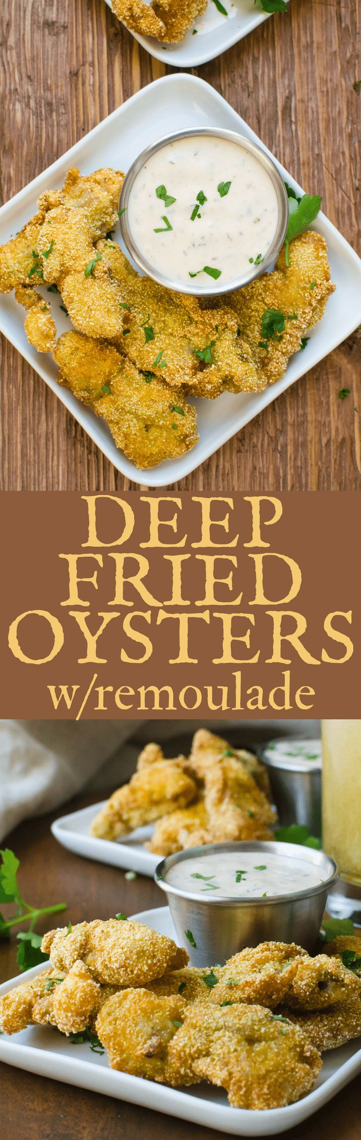 Deep Fried Oysters with Remoulade