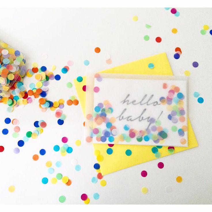 Открытка своими руками с конфетти, картинка детьми