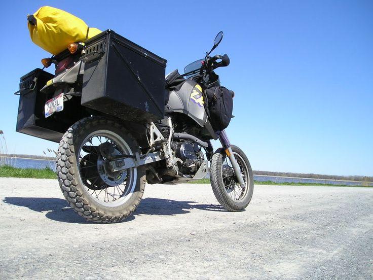 images about Motorsickles on Pinterest   Triumph bonneville     Hard Saddlebags and Mounting Hardware   KLR    NET Forums   Your Kawasaki KLR    Resource