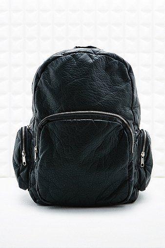 Large Zip Backpack in Black