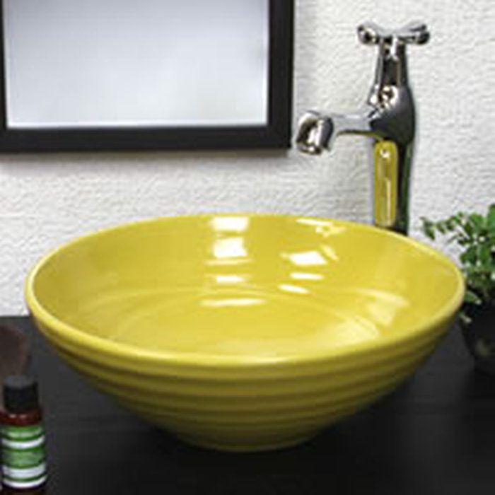 黄色(小型)手洗い鉢