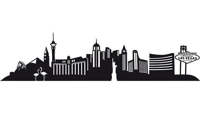 Las Vegas Strip skyline silhouette, perfection inspiration for my vegas tattoo!