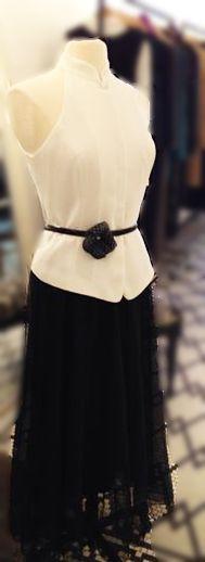 White cocktail dress.