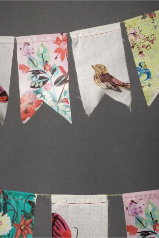 Scrap Fabric Bunting...cute outside in the Gazebo