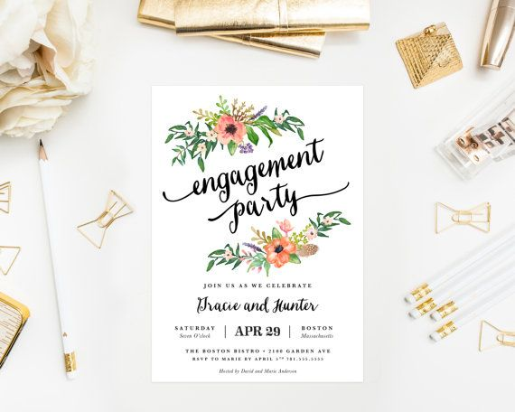 Sweetest Day Engagement Party Invitation by fineanddandypaperie