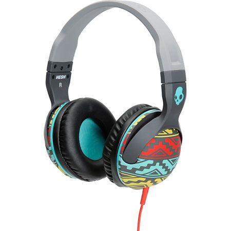 Skullcandy Hesh 2 is here to give you a boost of sound on your favorite tracks. The grey and bright Santa Fe pattern frame has plush leather ear pillows that give you a clean look along with ultimate comfort. These Supreme Sound headphones deliver awe inspiring bass natural vocals, and precision highs so you can hear your music like never before. The removable cord keeps you tangle free, and the Hesh2 Stash Bag will keep your Skullcandy Hesh 2.0 Santa Fe headphones in good shape.