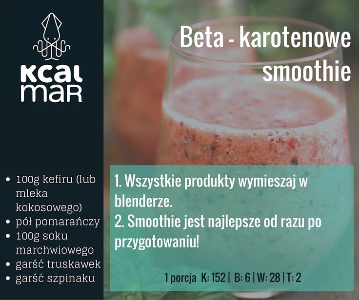 Beta-karotenowe smoothie