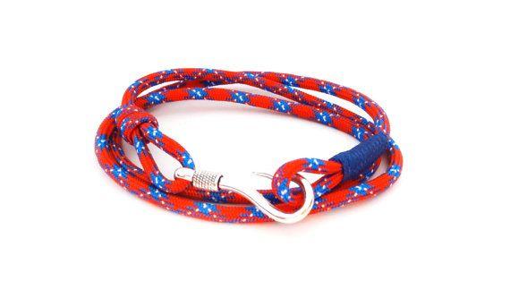 FREE SHIPPING, Fish hook bracelet,Nautical bracelet, Men's Bracelet, Nautical Jewelry, Anchor Jewelry, paracord bracelets, Rope bracelet