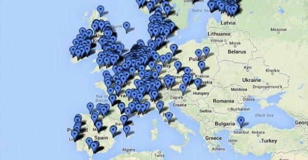 ecco le stazioni di ricarica per auto elettriche in europa