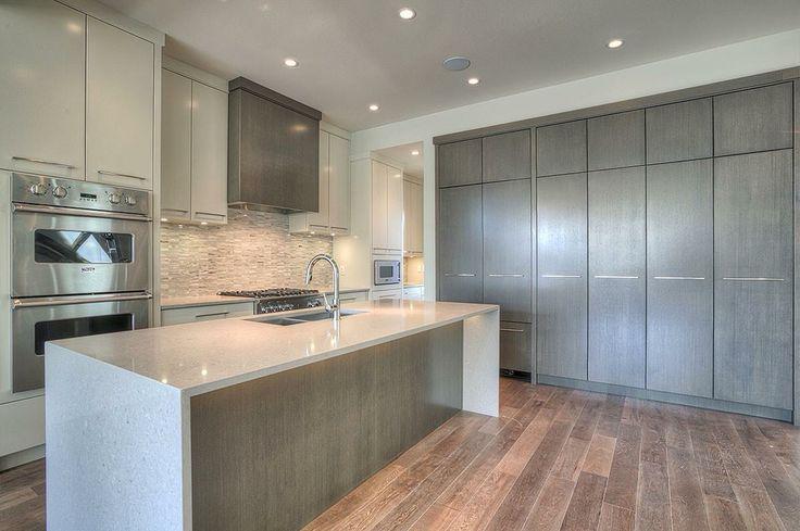 Soft colored kitchen