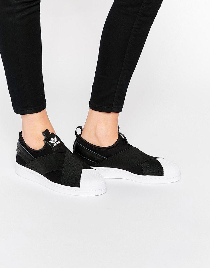 adidas Originals Black Superstar Slip On Trainers 1   Black slip ...