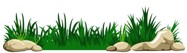 Grass with Rocks Transparent PNG Clipart