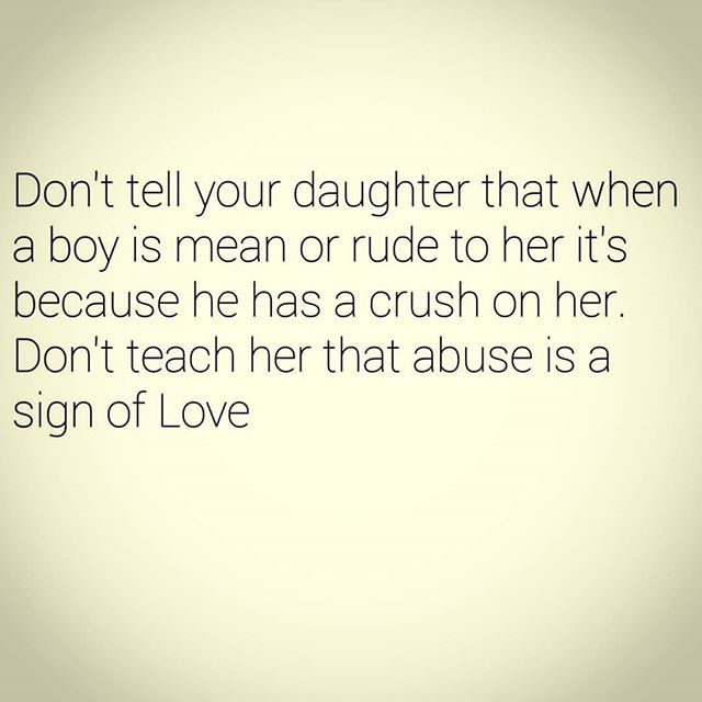 emotional abuse is not a sign of love, at any age.