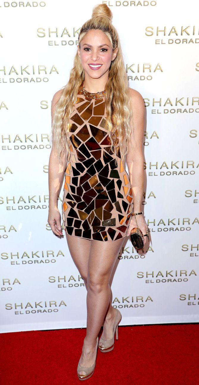 "Shakira attends the ""El Dorado"" album release party in Miami. #bestdressed"