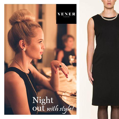 Μια νύχτα κομψότητας έξω! Επιλέξτε ένα διαφορετικό περιβάλλον έξω από τις συνηθισμένες νόρμες και διαλέξτε το πικέ, μαύρο, αμάνικο φόρεμα VENER με ανοικτή πλάτη.  #vener #nightout #class #luxury #blackdress