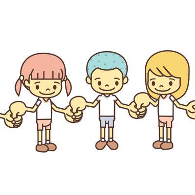 隣の子の指は握って、自分の指は握られないようにするゲームです。キャッチゲーム。English page : Catching Finger遊び方とルール1.みんなで内側を向いて輪になります。2.右手の人差し指を立てます。左手の親指と人差し指