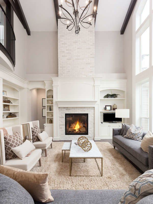 15 Ways To Stay Warm Without Turning On The Heat In 2021 Modern Farmhouse Living Room Decor Modern Farmhouse Living Room Farm House Living Room Living room fireplace ideas 2021
