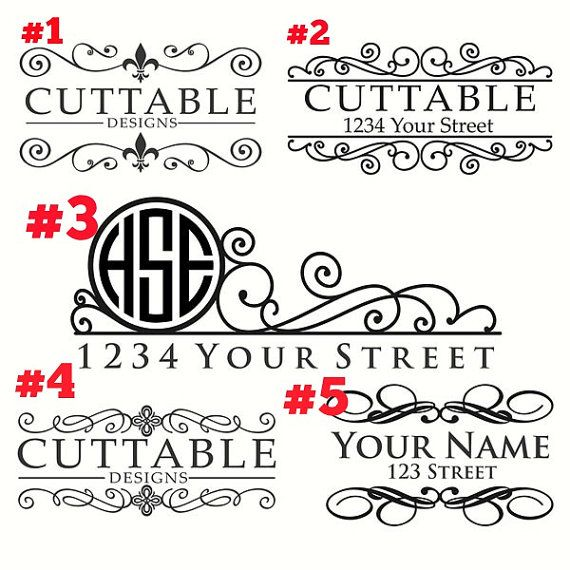 Mailbox decal personalized mailbox monogram by LJvinyldesigns